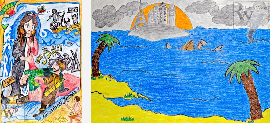 egypt mediterranean coast kafr el sheikh borg meghezil save the children irregular migration people trafficking smuggling child rights poster competition winners Irregular Migration, the Problem (Save the Children)